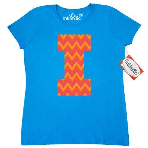 Inktastic I Monogram Chevron Letter Women\u0027s T-Shirt Initial Name