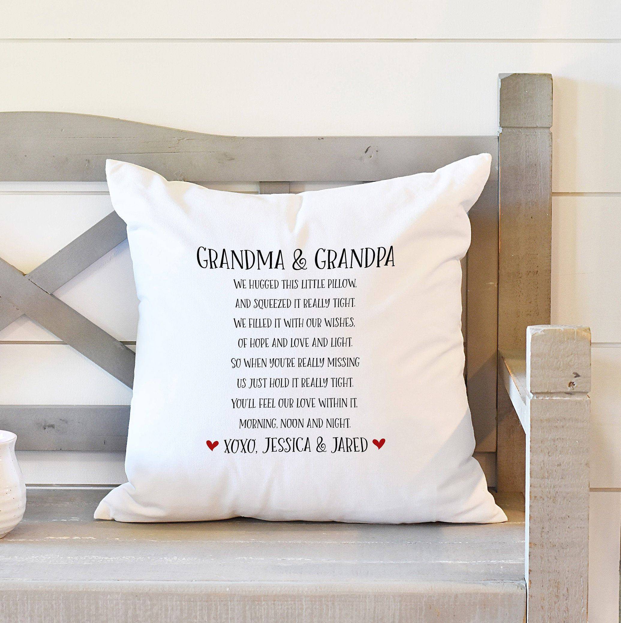 Personalized Filled With Love Pillow, Gift for Grandparents, Gift for Great-Grandparents, Gift from Grandkids, Decorative Throw Pillow #bestgiftsforgrandparents