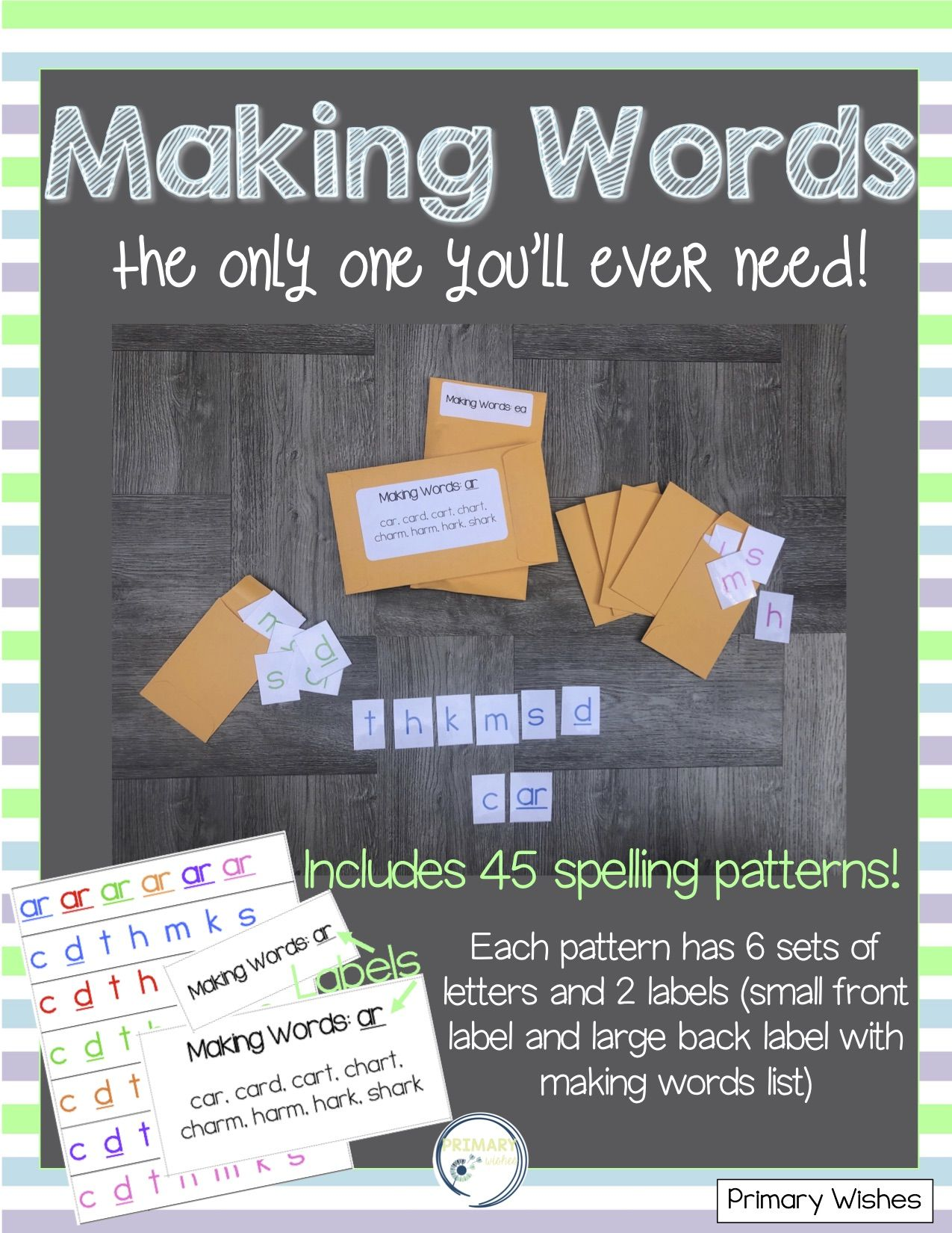 Making Words Phonics Activity With Images