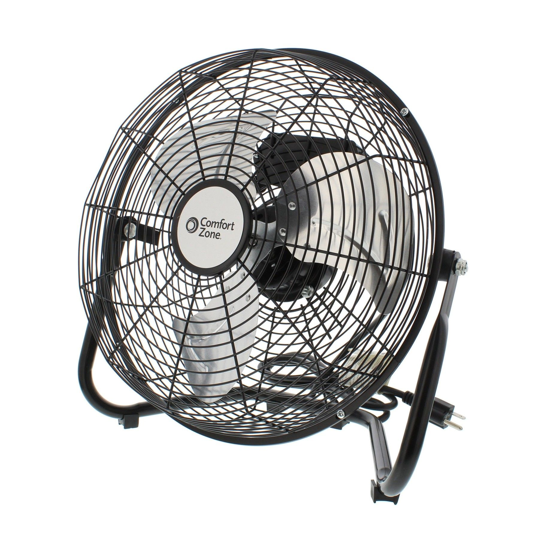 Comfort Zone Czhv12b High Velocity 12 Inch Floor Or Cradle Fan 360 Degree Adjustable Tilt Discontinued No Longer Available High Velocity Fan Fan Comfort Zone