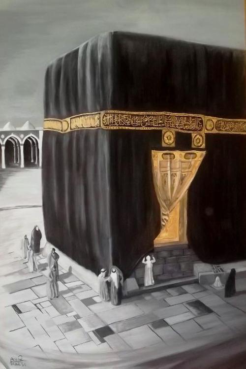 الفنان عزيز رمضان عضو تنفيذي في اتحاد فنانين مكة المكرمة Aziz Ramadan S Paintings An Administrator Member Of Mecca Islamic Images Michael Kors Monogram Image