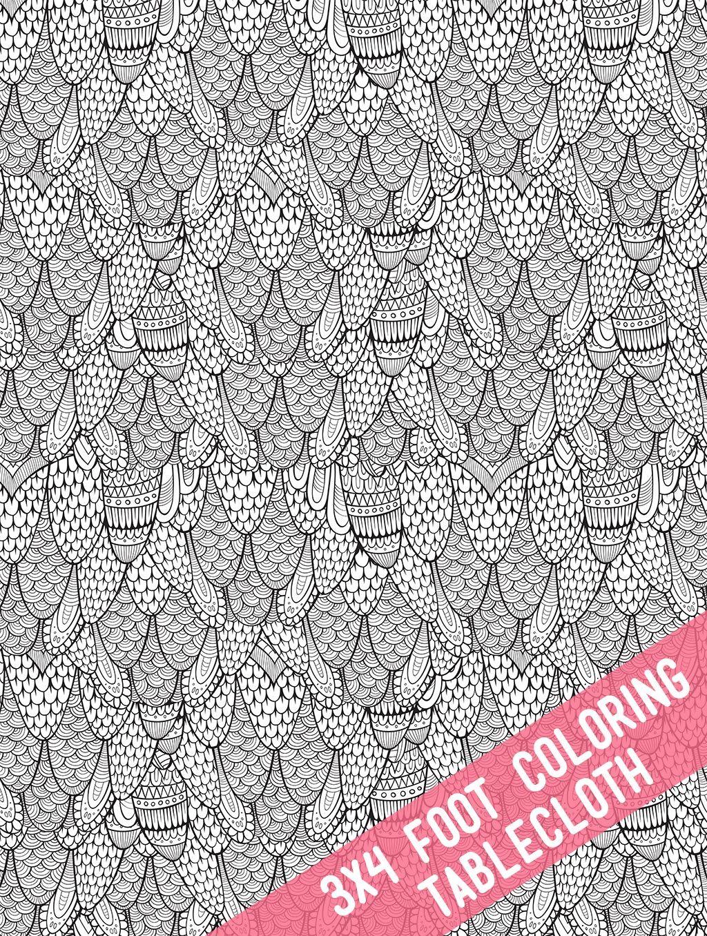 Theelegantartist Diy Coloring Book Fabric Tablecloth Diy Coloring Books Coloring Books Diy Tablecloth