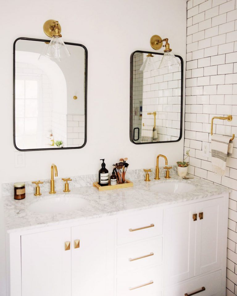 Photo of Mixing Metal Finishes in the Bathroom   Centsational Style