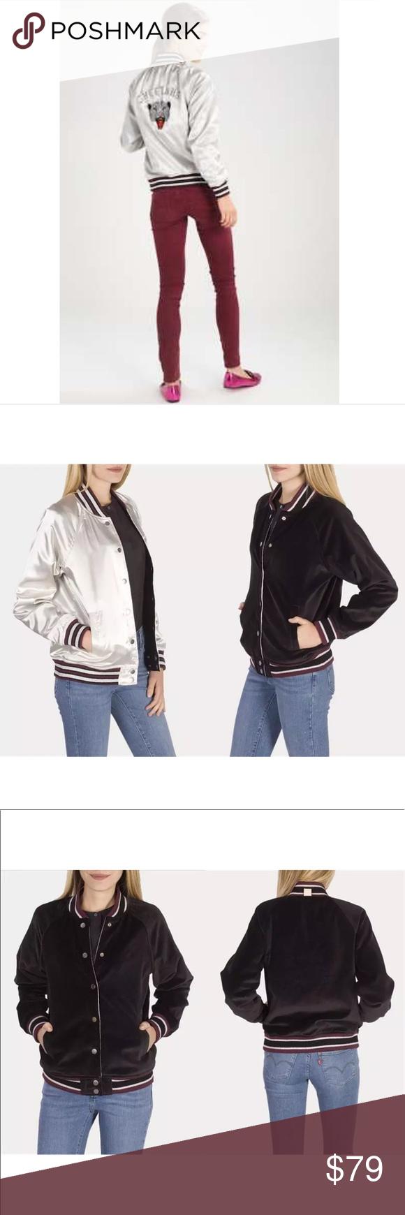 Nwt Ltd Levi S Reversible Black Grey Bomber Jacket Grey Bomber Jacket Jacket Brands Levi [ 1740 x 580 Pixel ]