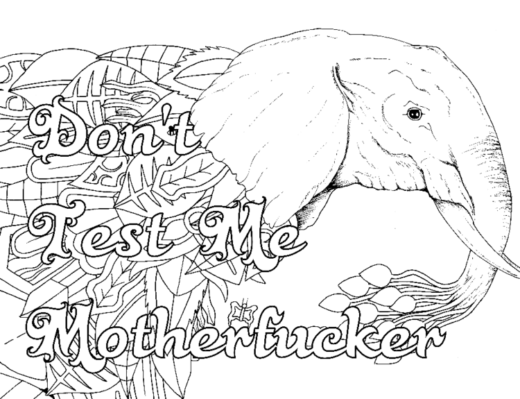 14 free coloring pages - Free Printable Swear Word Coloring Pages