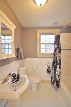 houzz - bathroom design - beadboard, tile, paint
