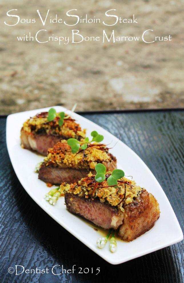 Recipe Bone Marrow Crusted Steak Beef Sirloin Sous Vide Resep Makanan