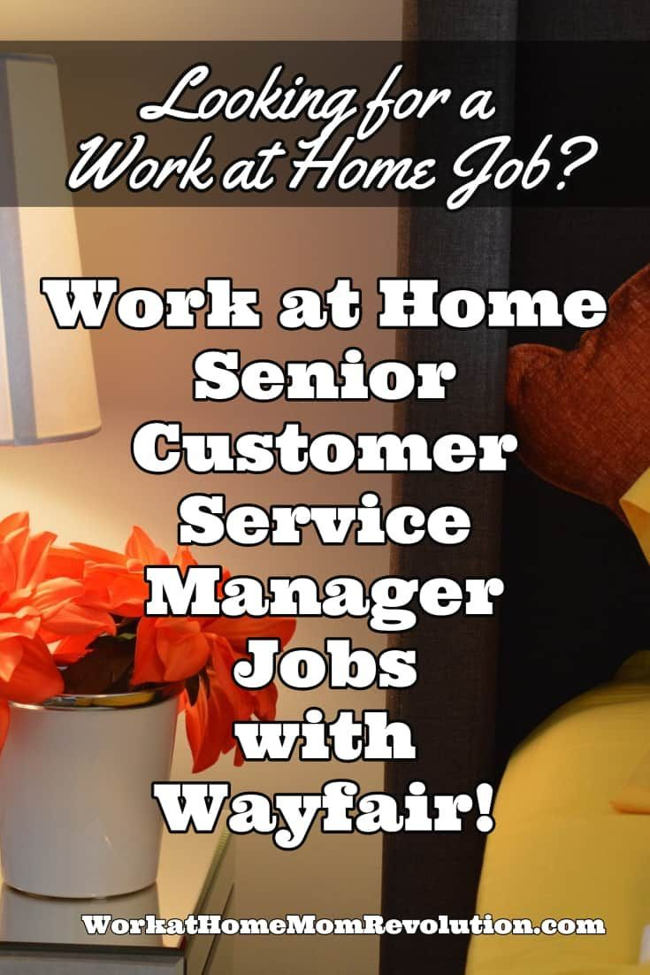 Work at Home Senior Customer Service Manager Jobs with