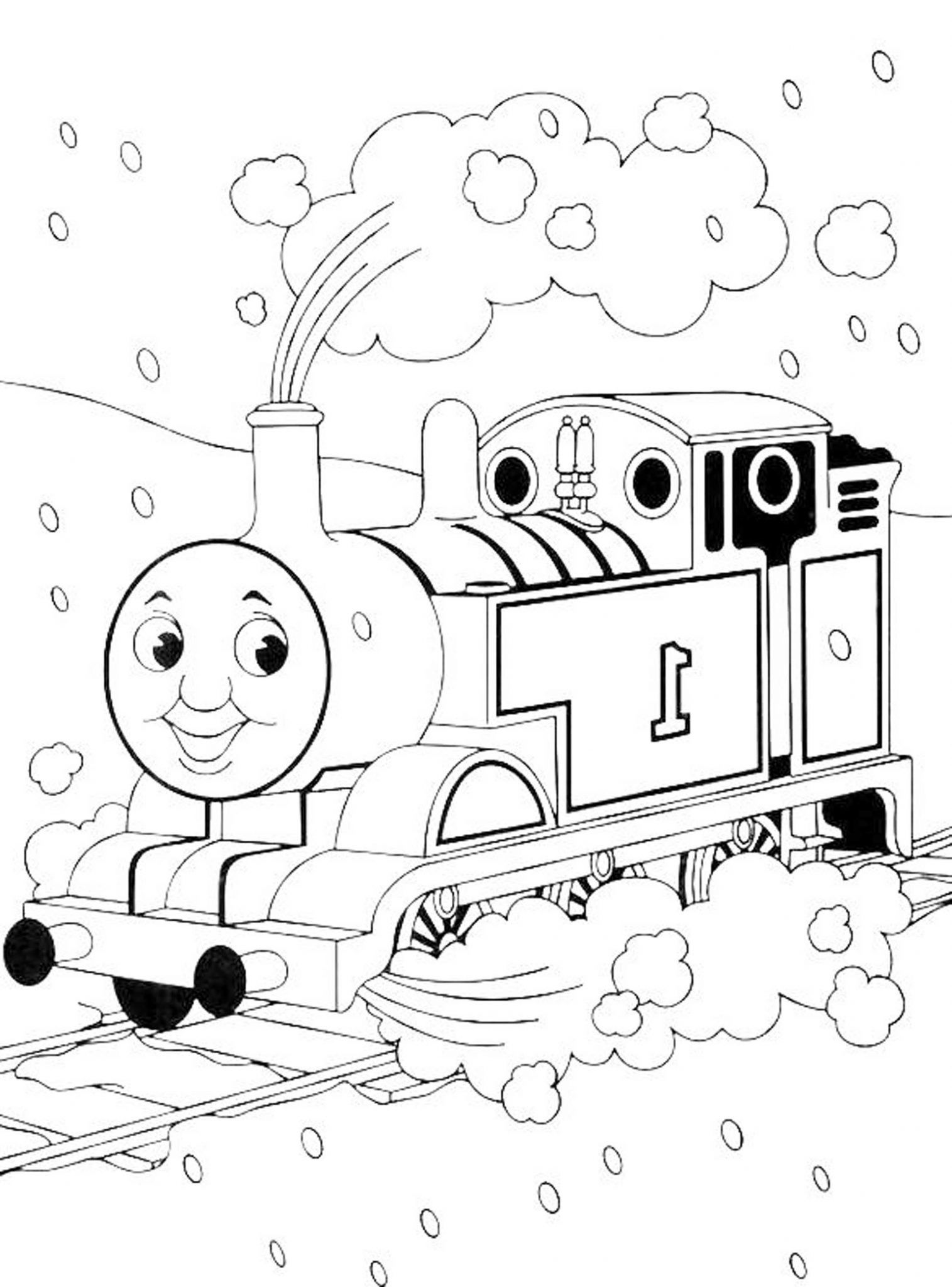 Big Boy Train Coloring Pages Coloring Pages Thomas The Train Theme ...