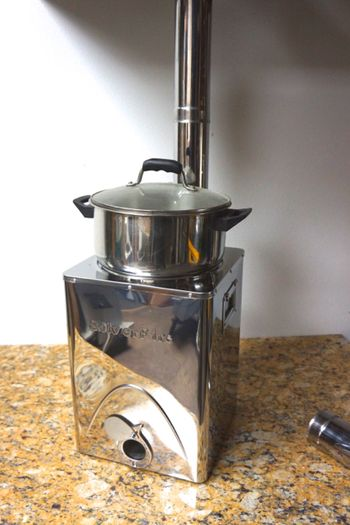 Biomass Wood Stoves ~ Silver fire stove biomass cooking zero harmful