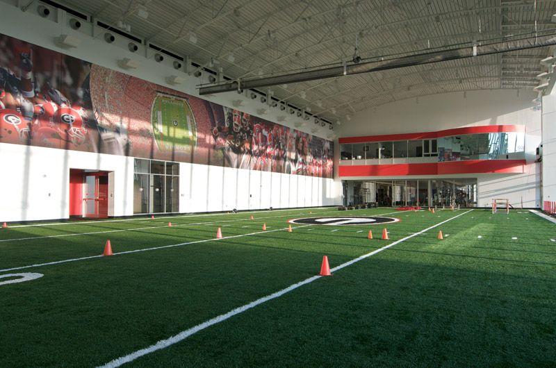 Georgia Bulldogs Practice Facility Facility College Football Gym Design