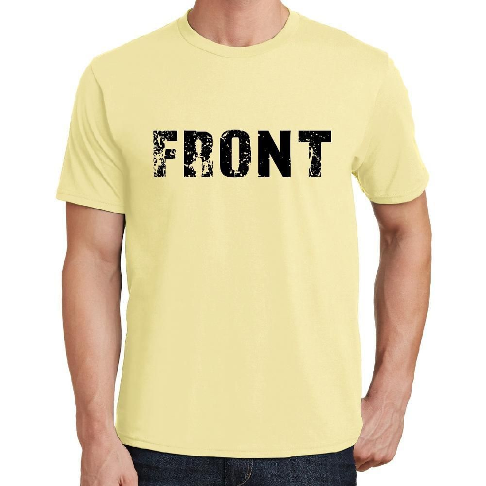 front Men's Short Sleeve Rounded Neck T-shirt