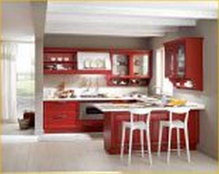 18+ Cool Ravishing Red Themed Kitchen Designs Ideas #kitchendesign