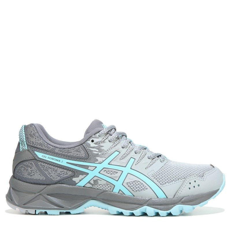 ASICS Women's Gel-Sonoma 3 Wide Trail Running Shoes (Grey/Blue)