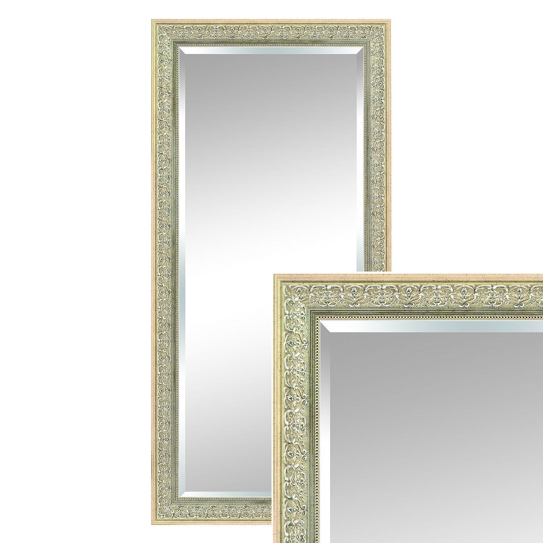 Wandspiegel Emma 115x55 Cm Mit Silbernem Rahmen Spiegel