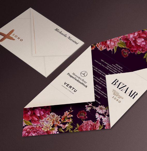 fashion week wedding invitation design inspiration | Print Design ...