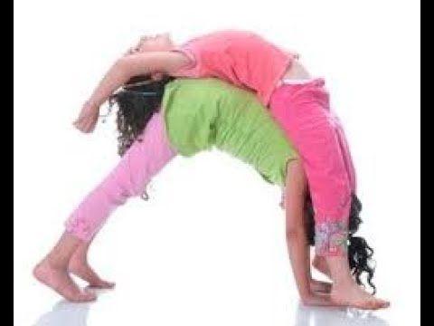 couple yoga challenge for kids  yoga para crianças yoga