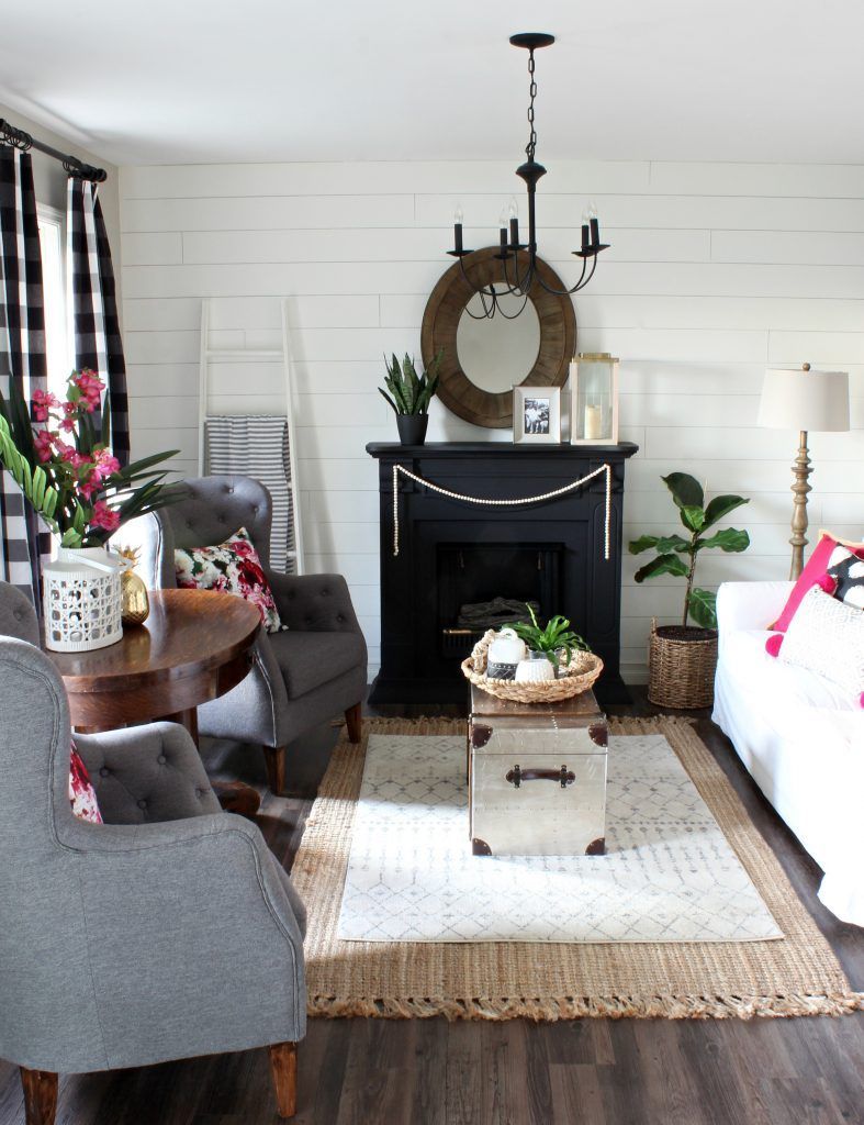 summer home tour hymns u verses living room black fireplace