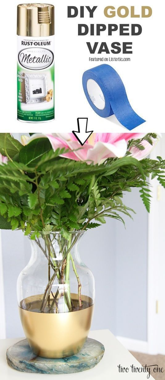 # 13. Erneuere veraltete Vasen mit Sprühfarbe! – 29 kühle Spray #spraypainting