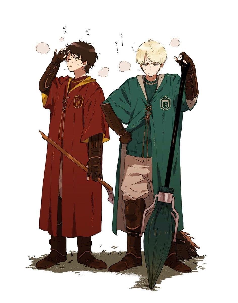 Harry Potter X Draco Malfoy In 2020 Harry Potter Anime Harry Potter Drawings Harry Potter Artwork
