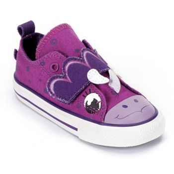 Converse Chuck Taylor All Star Dinosaur Shoes for Toddler Girls ... c368f59e5