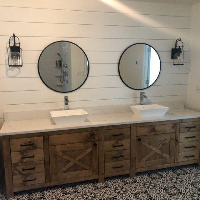 handmade custom vanity in 2020 custom vanity rustic on custom bathroom vanity plans id=12578
