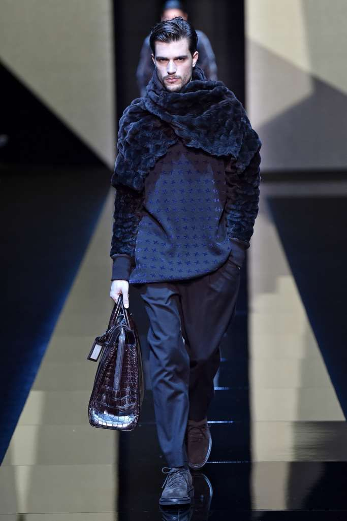 Male Fashion Trends: Giorgio Armani Fall-Winter 2017 - Milan Fashion Week