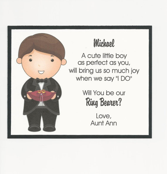 Will You Be My Ring Bearer Flat Card By Anniesimpressions On Etsy 3 00