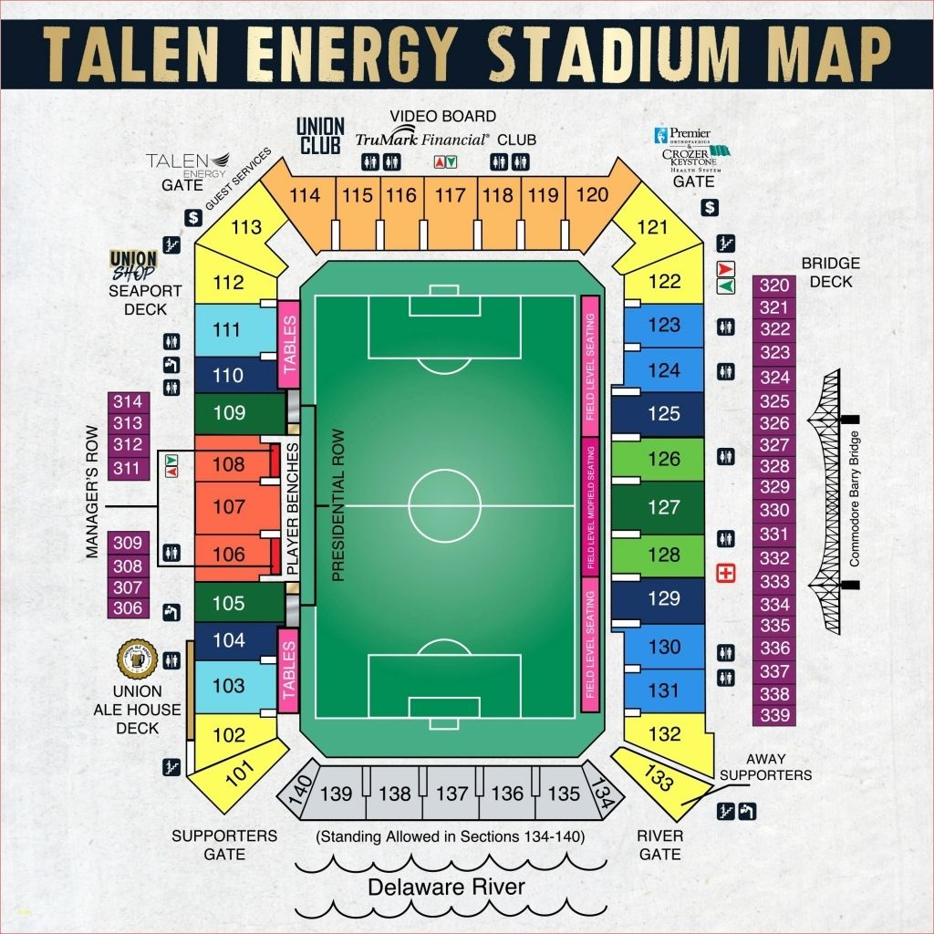 The Awesome And Beautiful Talen Energy Stadium Seating Chart Di 2020