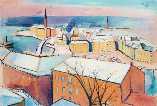 Einar Jolin (1890–1976), Stockholm in winter, 1915.  painting on canvas, 100 x 142 cm
