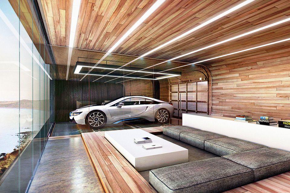 House In The Hill Garage Design Interior Garage Design Luxury Garage