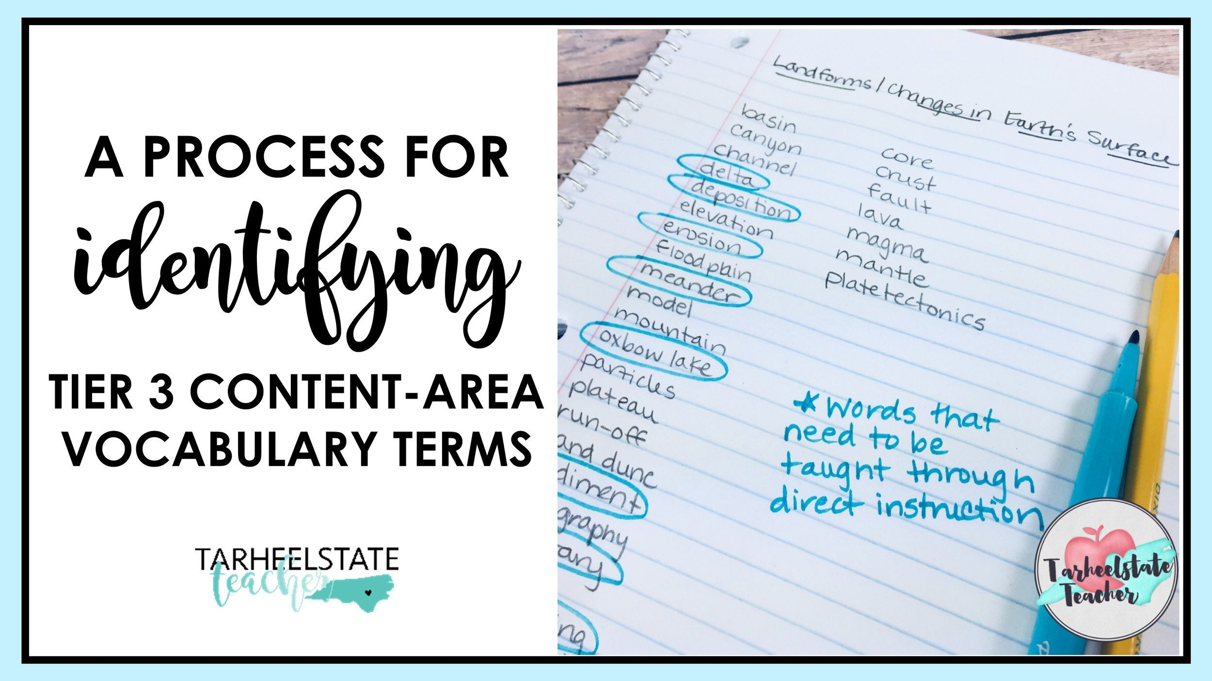 How To Identify Your Tier 3 Content Area Vocabulary Words