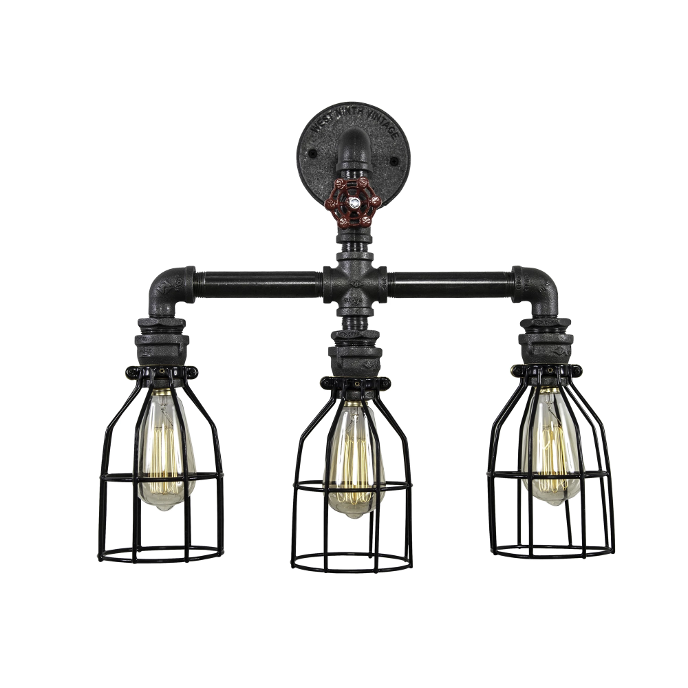 Triple Pendant Wall Light Industrial Vanity Light Metal