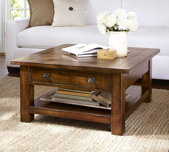 Square Wood Lift Top Coffee Table