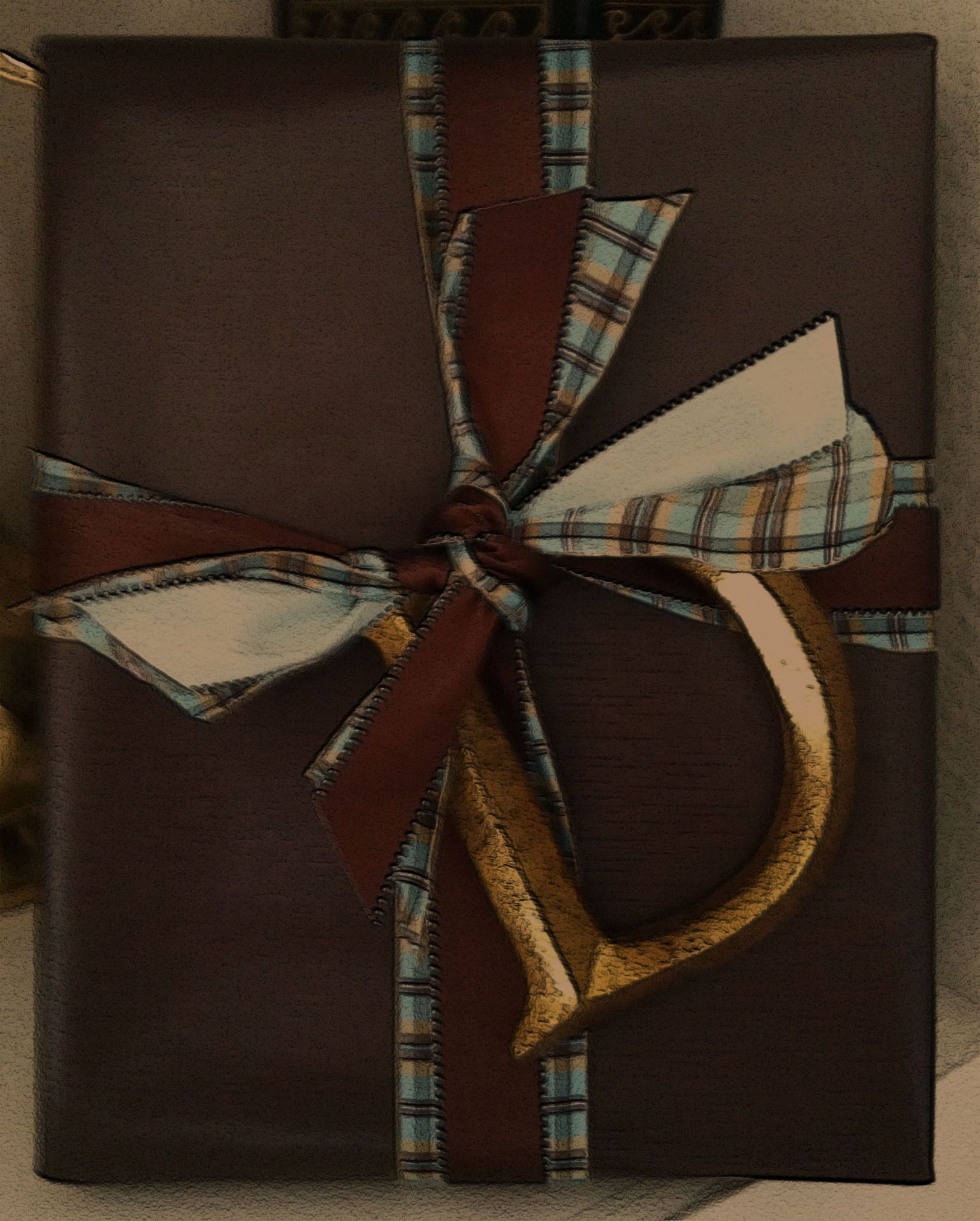"""Masculine gift wrap - """"D"""" for Dad"""