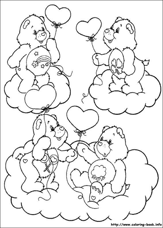 The Care Bears coloring picture | Art ideas | Pinterest | Care bears ...