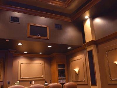 Media Room With Luxurious Interior Design In Boca Raton