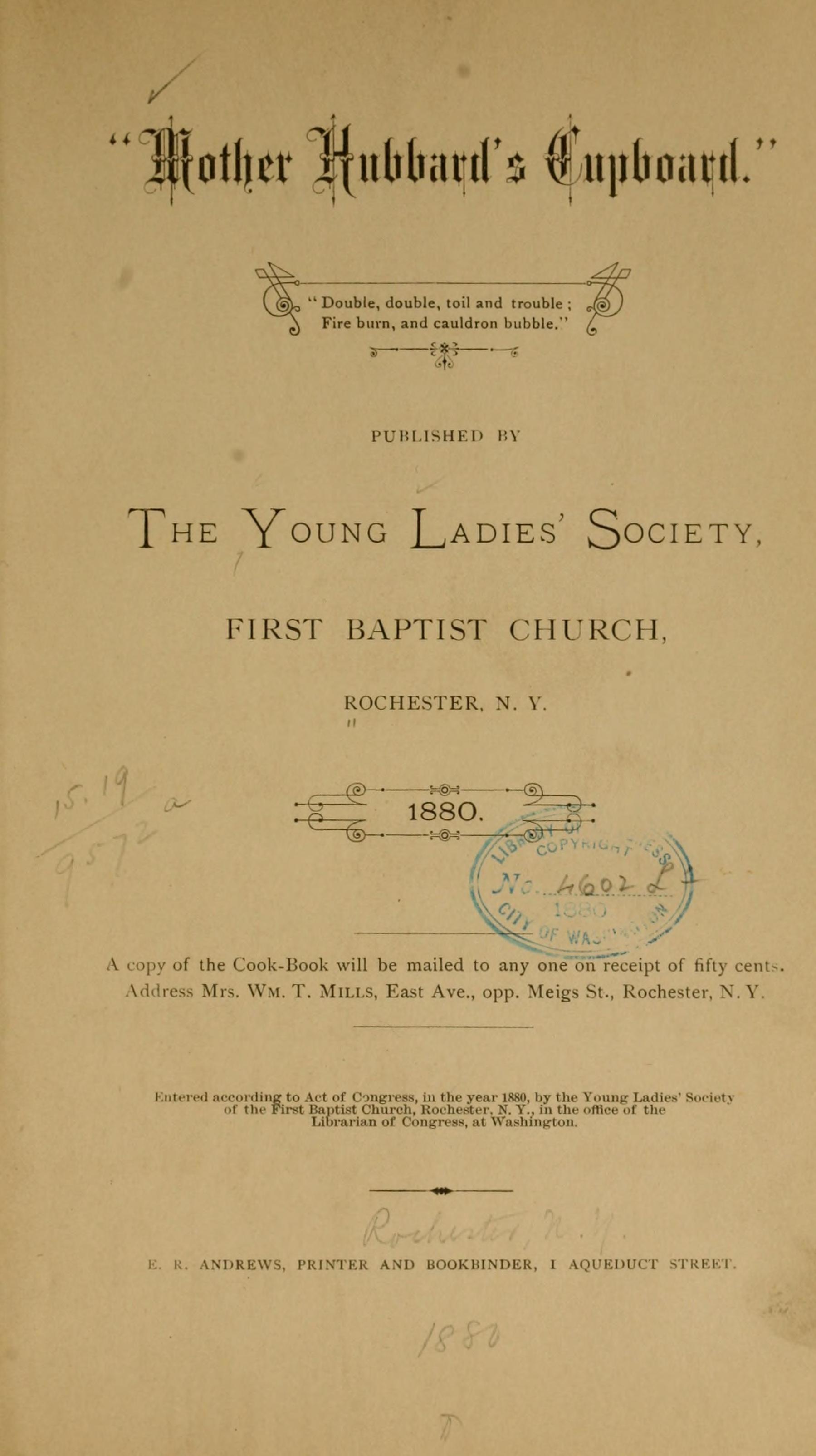Mother Hubbard S Cupboard Baptist Church Internet Archive Hubbards