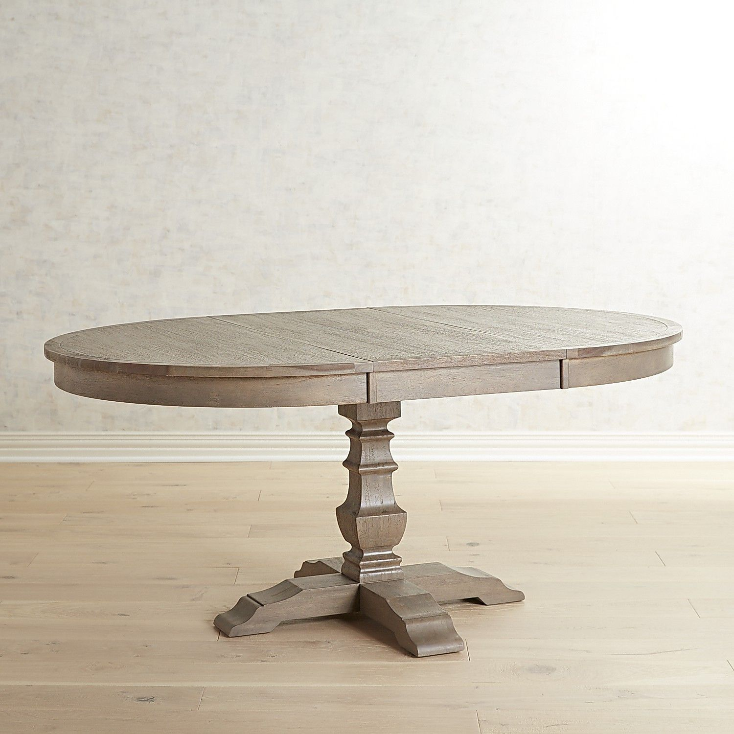 Bradding Shadow Gray Extension Dining Table Pedestal Dining Room Table Dining Table Oval Table Dining
