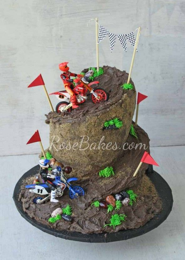 Dirt Bike Racing Cake Great Idea For Kids Ok And Parents Too Lol