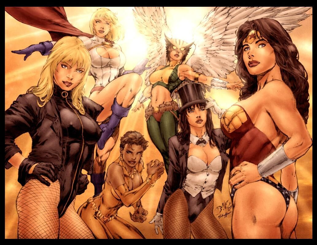 marvel super heroes females   Sex, Myth & Superfems 4: American Gods
