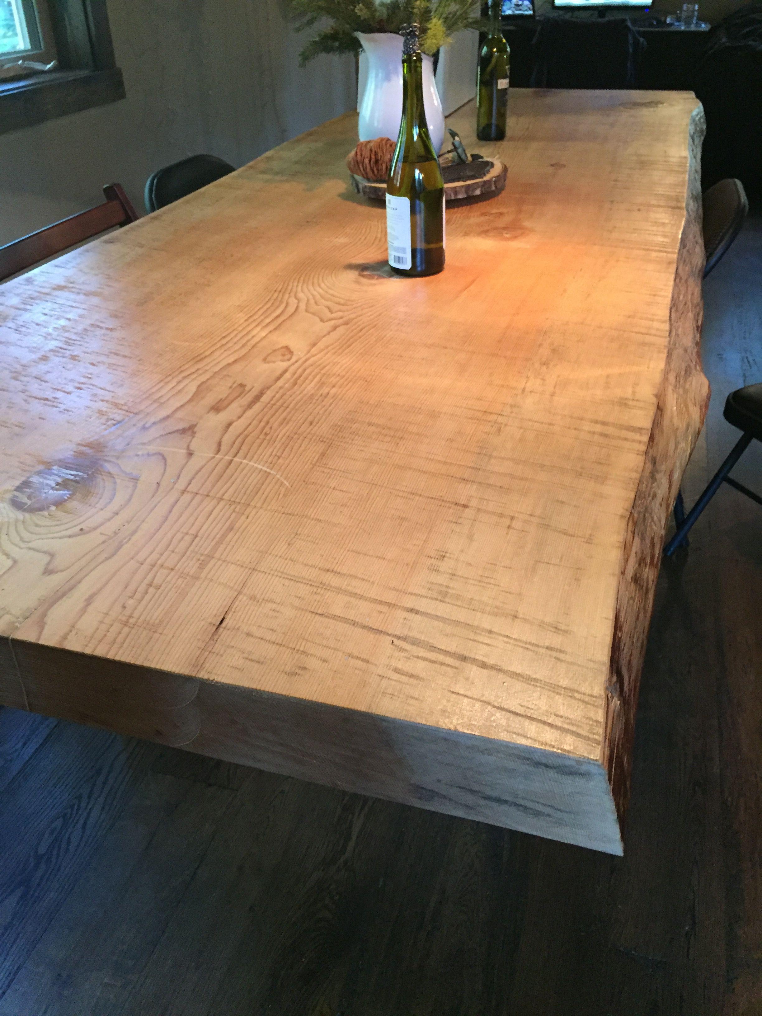 Handmade 10 foot red fir dining table Cabin ReBuild