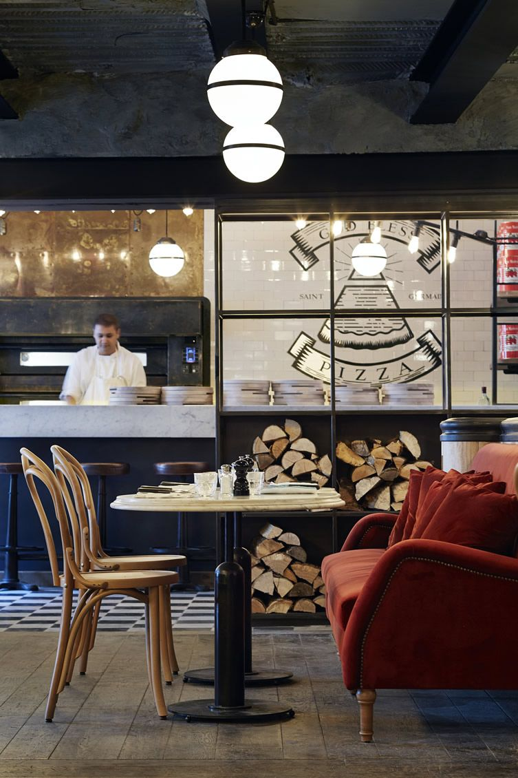 Pizza Lovers Prayers Are Answered At Eclectic Three Storey Paris  # Muebles Pizzeria