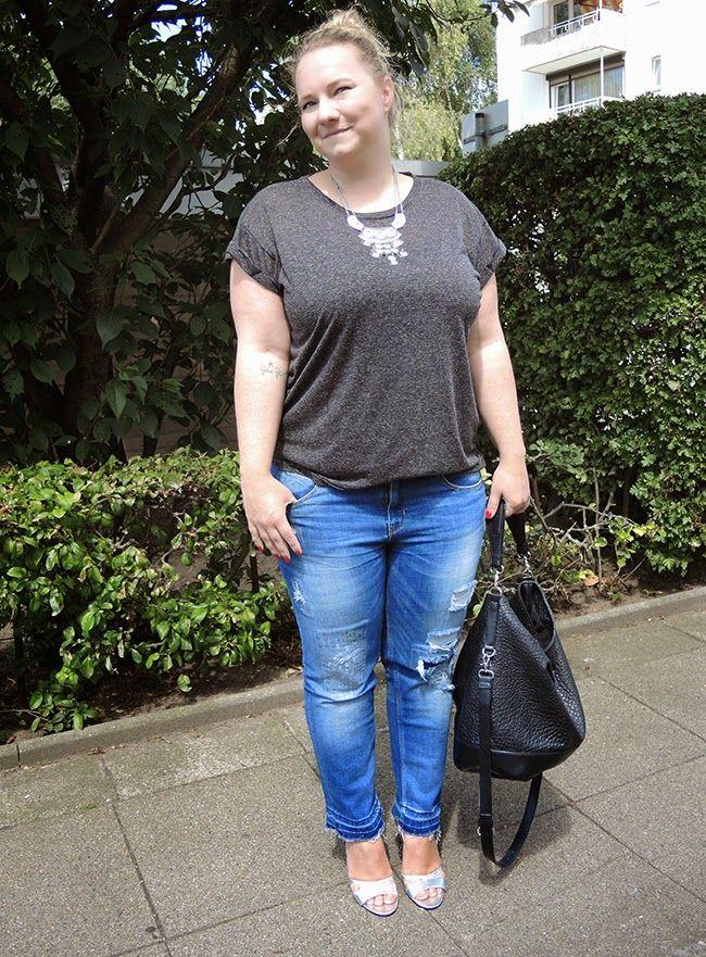 Mollig bbw Frau in Nikes