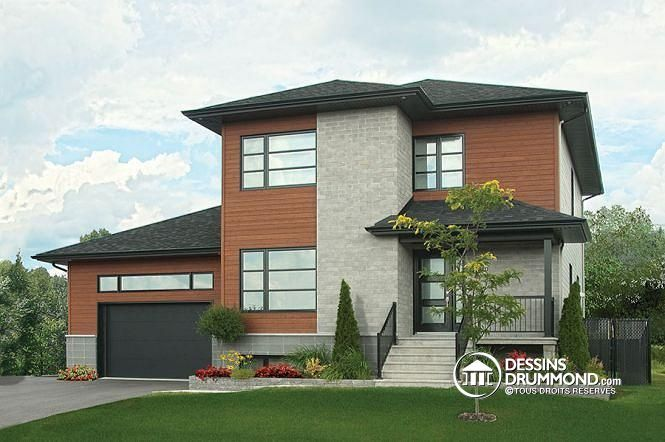 Contempoary House Plan No. 3875 With 3 Bedrooms, Stunning Master Suite,  Large Garage, Remarkable Entry Hall And Kitchen