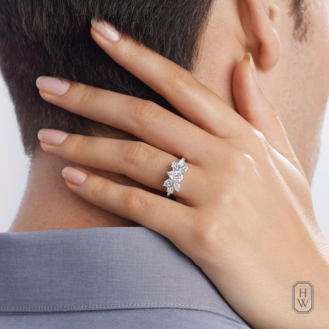 cbd682453dcb8f Introducing 'Something New' – the Pear-Shaped Cluster #Diamond Ring ...