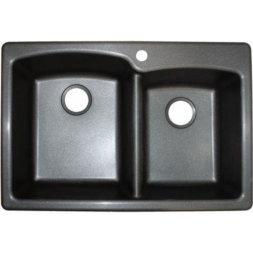 New Sink Got It With Images Double Basin Granite Kitchen