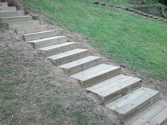 Stone Steps In Southeast Michigan Landscape Stairs Landscape Timbers Garden Stairs