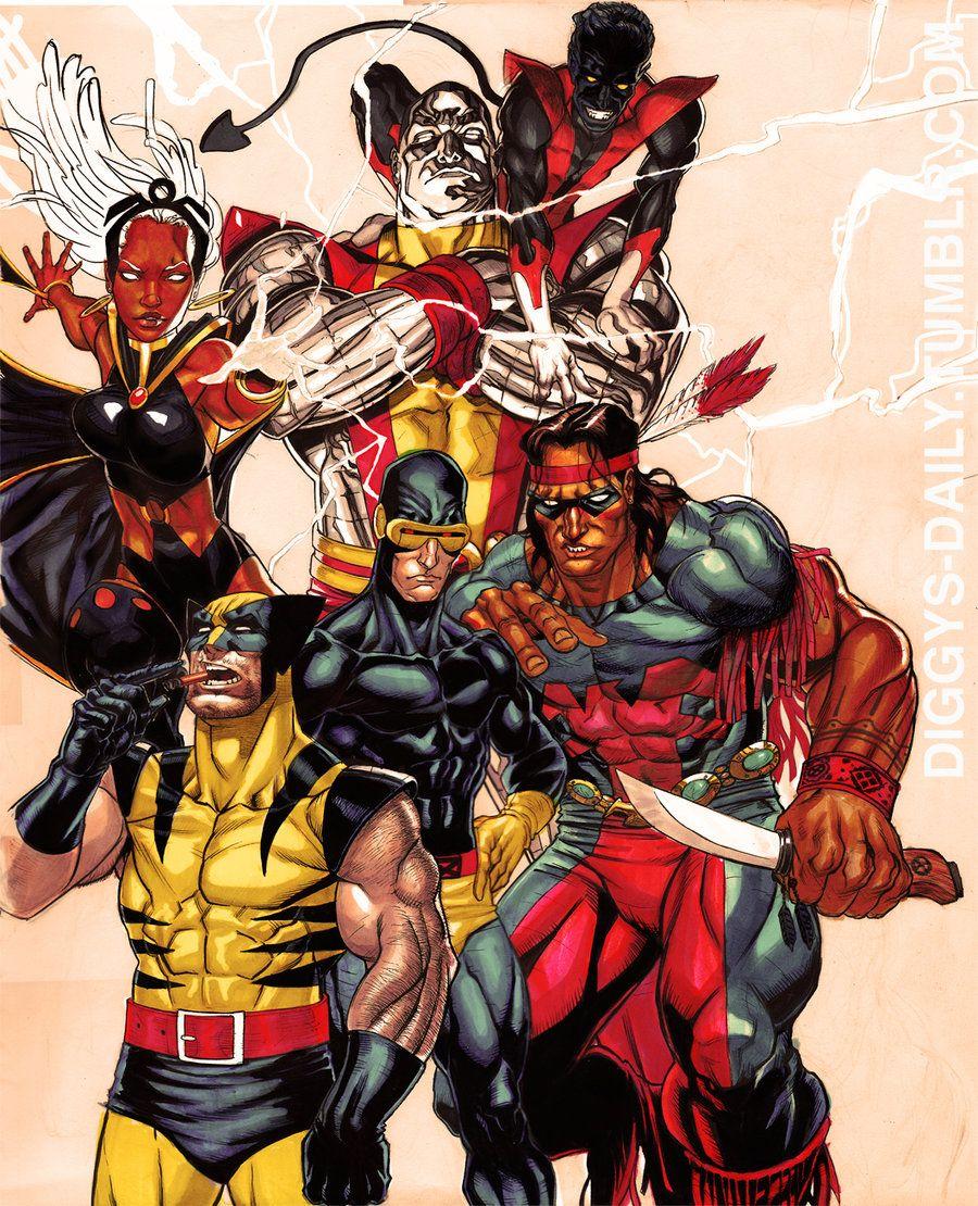 X Men 75 By Ronackins On Deviantart Comics X Men Marvel