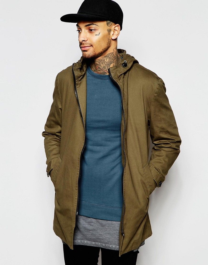 good service save up to 80% catch Festival Lightweight Parka Jacket In Khaki | Mens ...